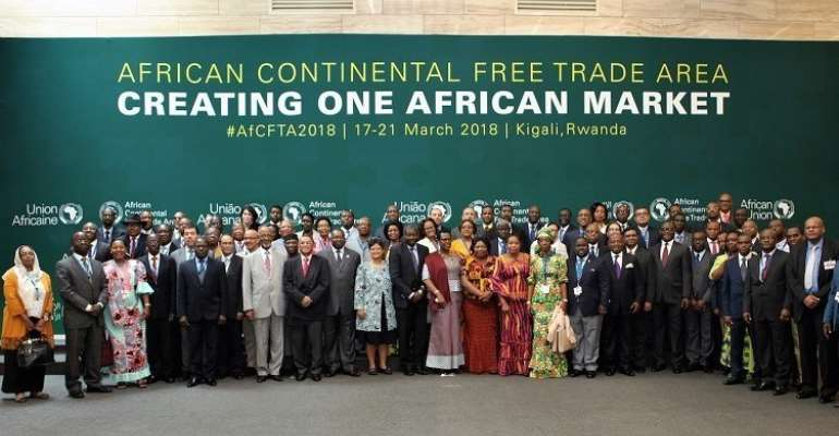Th AfCFTA is intended to be a new platform for the continent's economic growth. (courtesy twnafrica.org)