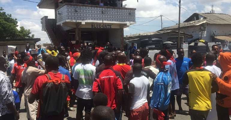Odododiodoo youth protest purported removal of Adjei Sowah as AMA Mayor