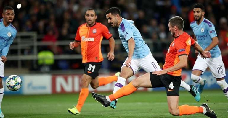 UCL: City Put aside domestic slip with win at Shakhtar