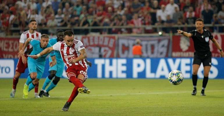 UCL: Olympiakos Hit Back To Draw With Tottenham