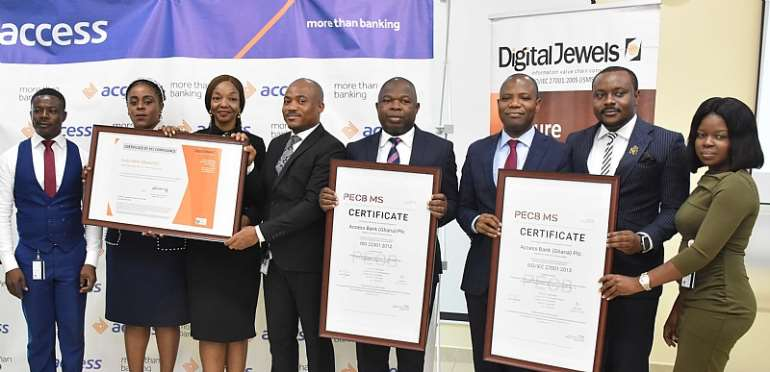 Officials Of Access Bank And Digital Jewels Showcase Certificates