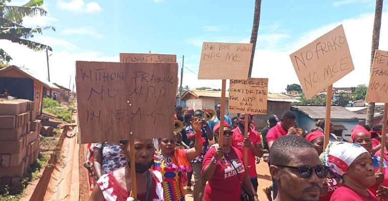 Nzema East: Group protest to demand retention of MCE
