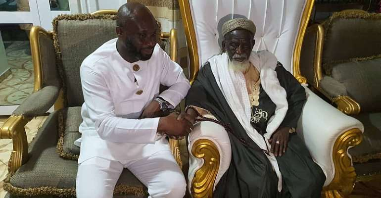 George Afriyie and National Chief Imam Sheikh Dr. Osmanu Nuhu Sharubutu