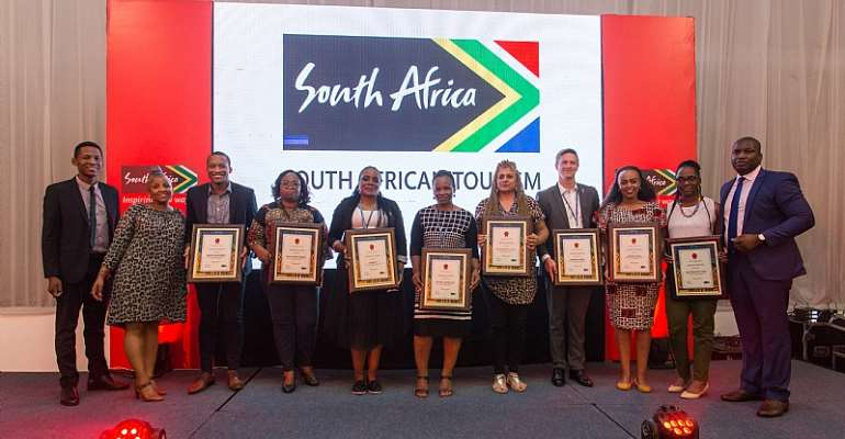 Award to South Africa Product Owners from the South Africa Tourism in Lagos