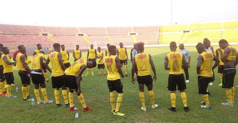 2020 CHAN Qualifiers: Bel~aqua Ghana Donate To Black Stars B Ahead Of Burkina Faso Clash [PHOTOS]