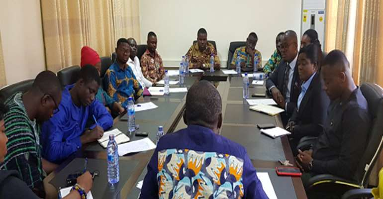 GRASAG Members in a meeting with the Registrar of Scholarship Secretariat