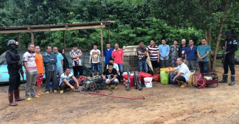Prestea: 20 Chinese Illegal Miners Grabbed