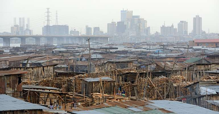 Makoko neighbourhood in Lagos, initially founded as a fishing village. - Source: Frédéric Soltan/Corbis via Getty Images