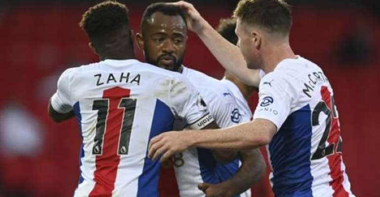 Wilfried Zaha Reveals Penalty Conversation With Jordan Ayew Against Manchester United