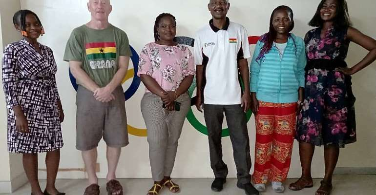 Dr. Andrew Carruthers visits Ghana Olympic Committee