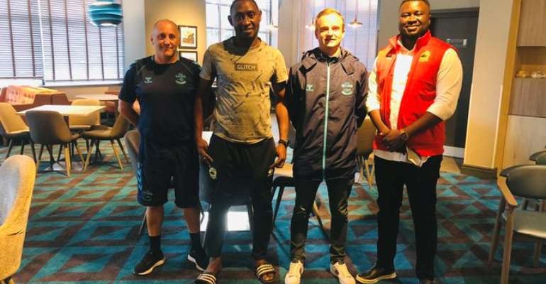 Assistant coach and Brands Manager of Asante Kotoko arrives in England for a month attachment at Southampton