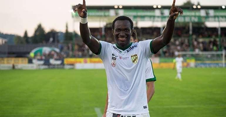 Ghanaian striker Raphael Dwamena suffers elimination from Austrian Cup with Lustenau