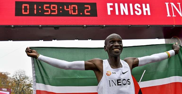 Eliud Kipchoge, who became the first man to run a marathon in under two hours, is targeting further success at Tokyo 2020 ©Getty Images