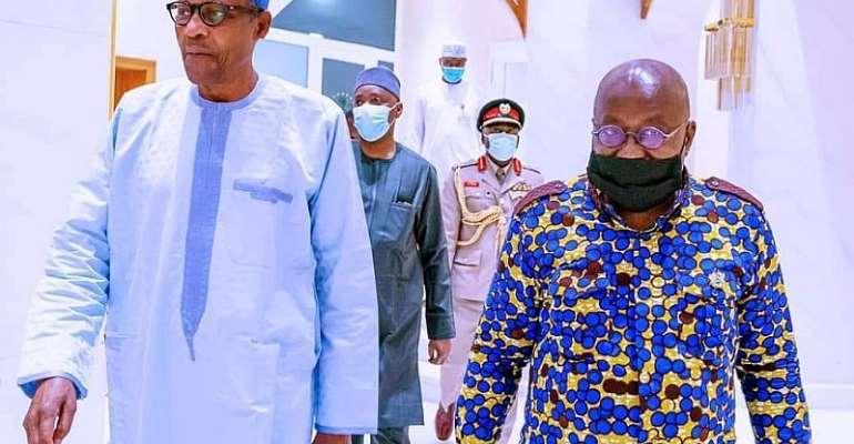 President Nana Akufo-Addo and President Buhari of Nigeria