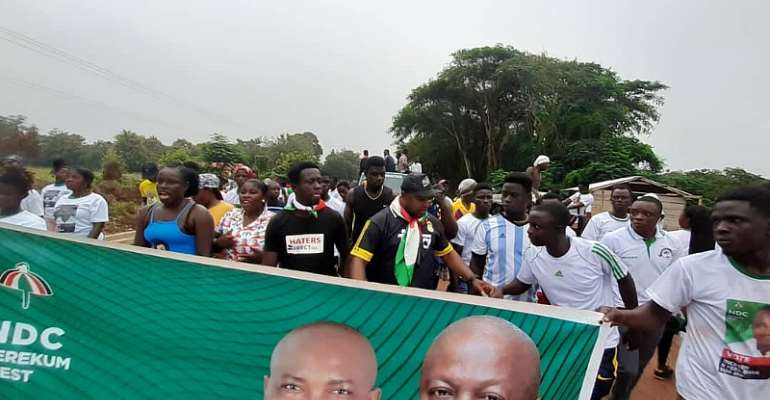 Hundreds Turn-Out For 'Berekum West Walk For Change'
