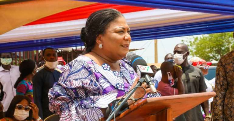 Mrs Akufo-Addo speaking during the tour.