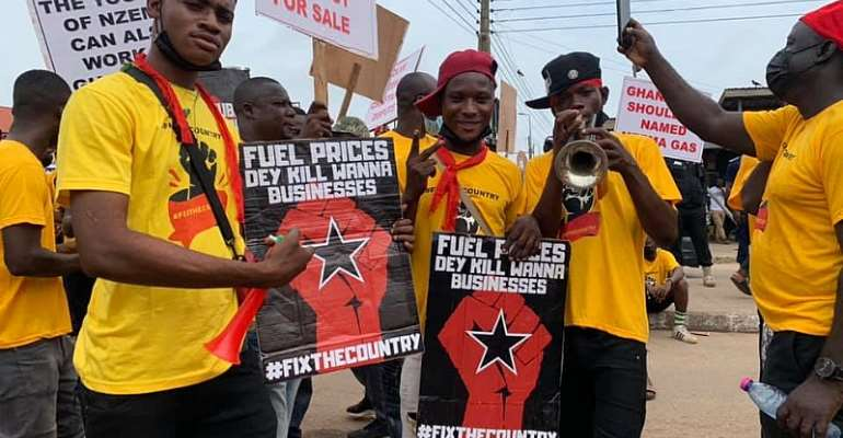 PHOTOS: Second #FixTheCountry protest ongoing in Takoradi