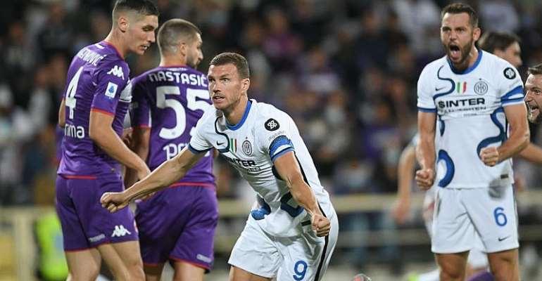 Serie A: Inter go top with comeback win at Fiorentina