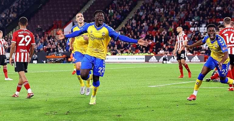 Mohammed Salisu scores debut goal Southampton win against Sheffield United in EFL Cup