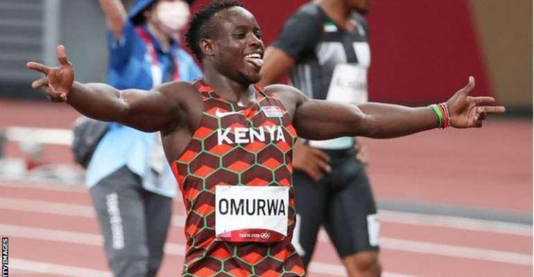 Ferdinand Omurwa Omanyala twice set a new Kenyan national record for 100m at the Tokyo Olympics