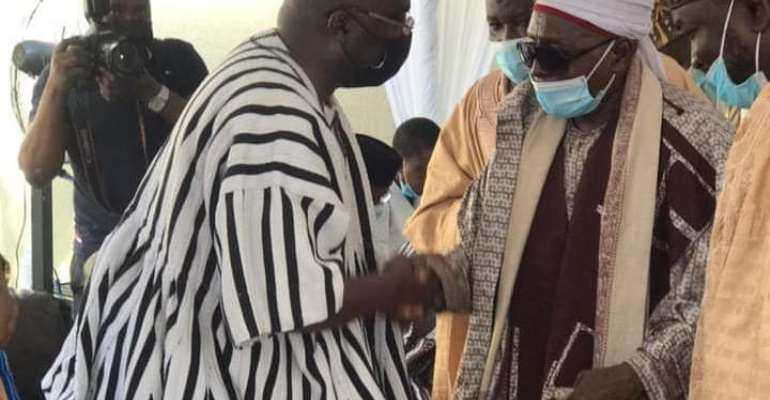 Zango Chief pays courtesy call on Bawumia over death of mother