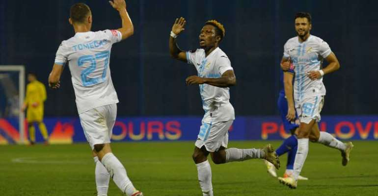 Ghanaian youngster Issah Abass bags brace in Rijeka's 7-0 win against Pitomaca in Croatia