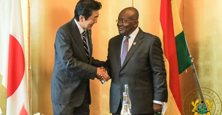 President Akufo-Addo with Prime Minister Shinzo Abe of Japan