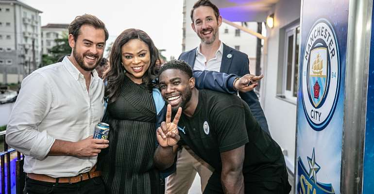 Man. City STAR, Micah Richards Learns Zanku At STARStudded Event In Lagos