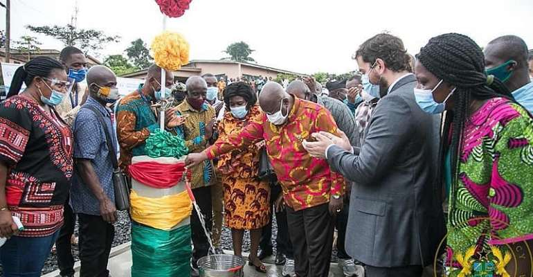 Akufo-Addo Commissions Five Piped Water Supply System In Volta