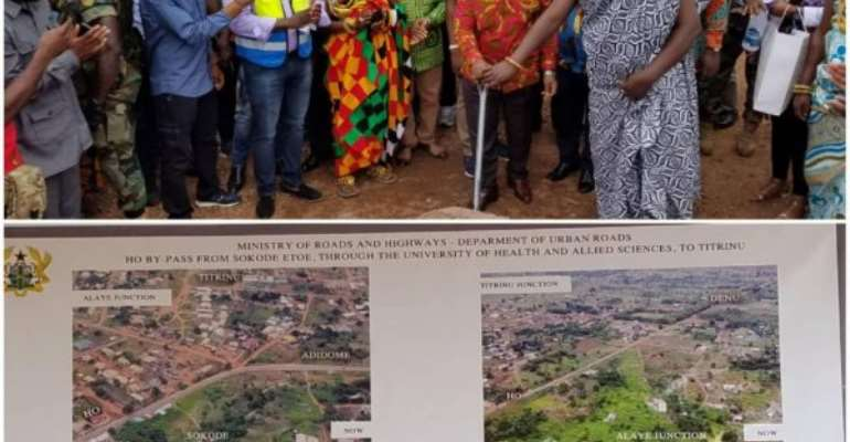 Akufo-Addo Breaks Ground For Ho By-Pass And UHAS Roads