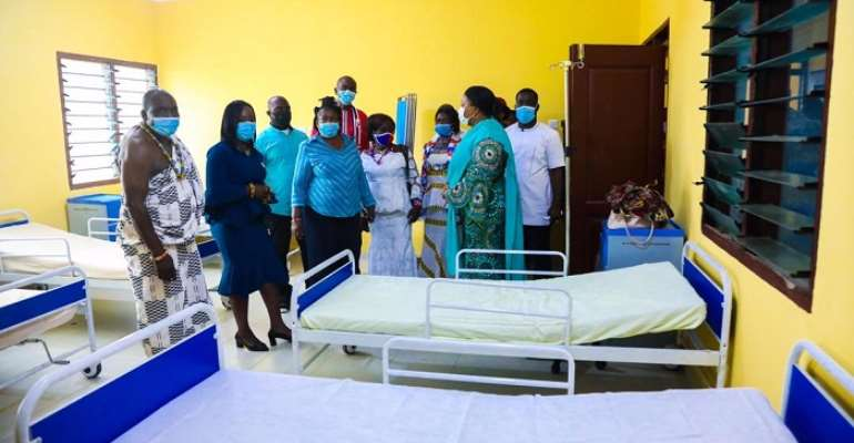 Mrs Rebecca Akufo-Addo in one of the wards.
