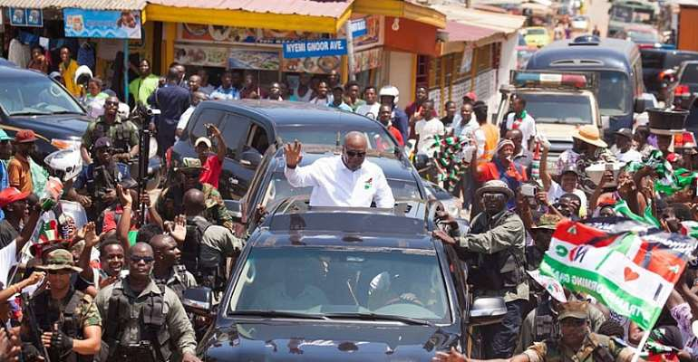 Okada Riders Swamp Mahama As He Tour Upper West