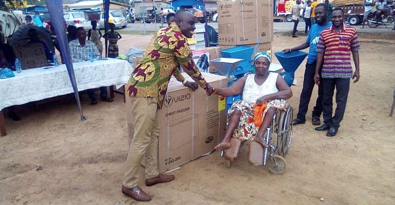 About 90 PLWD Receives Support From Ajumako District Assembly