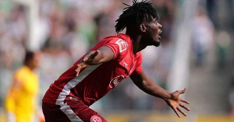 Kasim Nuhu Scores First Goal Despite Fortuna Düsseldorf Defeat To Mönchengladbach