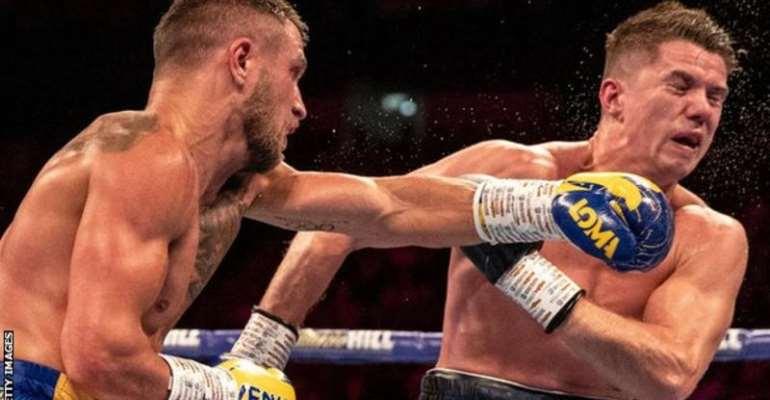 Lomachenko (left) last fought in August 2019 when he beat Britain's Luke Campbell in London