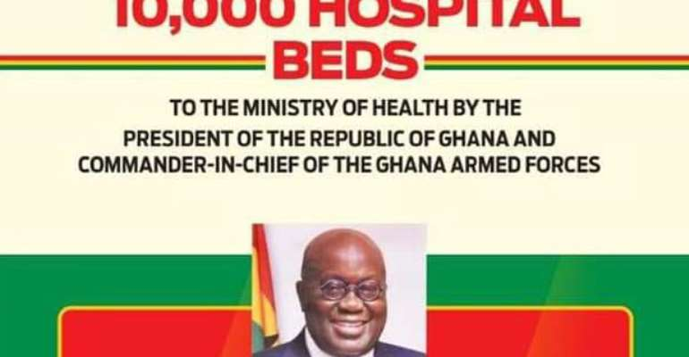 Akufo-Addo Hands Over 10,000 Hospital Beds To MoH