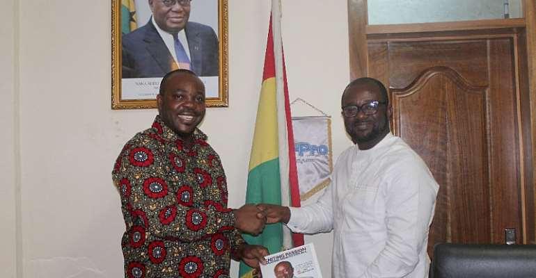Sports Minister Isaac Asiamah (Left), and GFA President Kurt Okraku (Right)