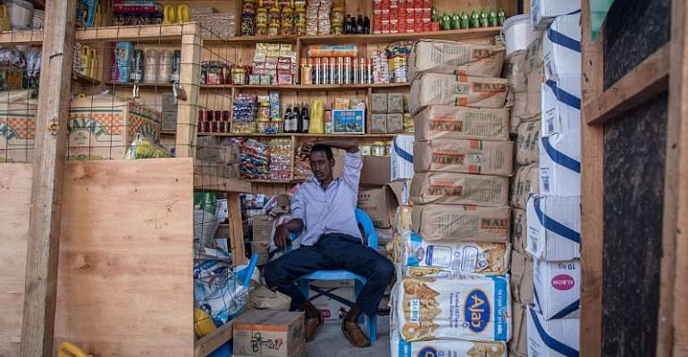 Cash transfers allow refugees to buy goods from shops in the settlement - Source: Photo by Sally Hayden/SOPA Images/LightRocket via Getty Images