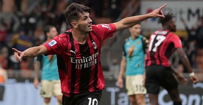 Brahim Diaz and Theo Hernandez goals lift AC Milan to win over Venezia