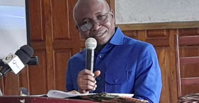 Prof. Elvis Asare-Bediako, the Vice-Chancellor of University of Energy and Natural Resources