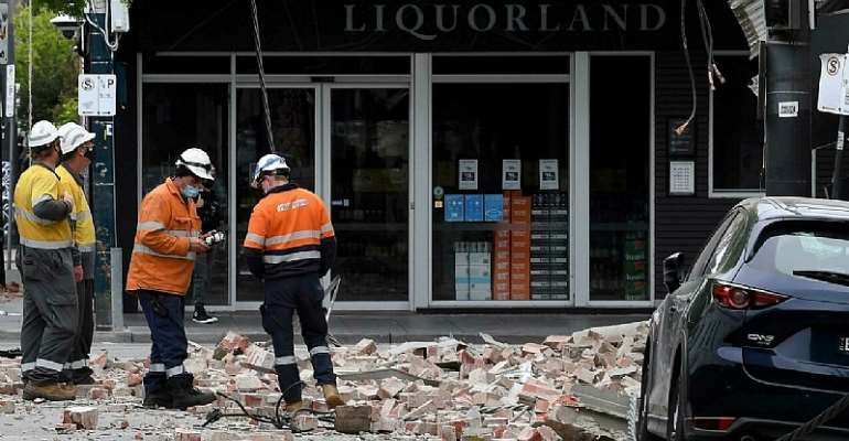 A shallow quake shook southeastern Australia, sending panicked residents running into the streets William WEST AFP