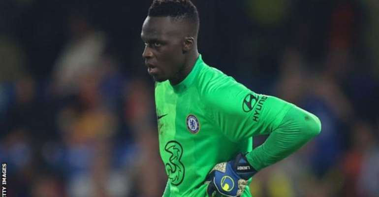 Goalkeeper Edouard Mendy suffered a knock during Chelsea's Champions League win against Zenit St Petersburg last week