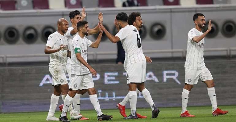 Ghana forward Andre Ayew on target for Al-Sadd SC in 4-2 win at Al-Rayyan