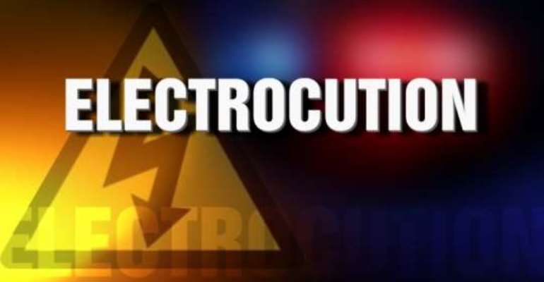 Middle-aged woman electrocuted