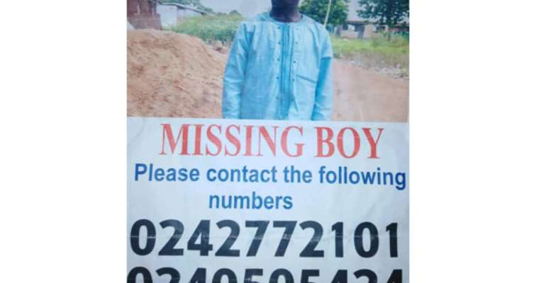 Boy Missing For 2 Months In Tamale