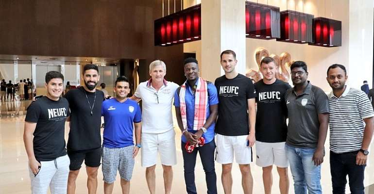 Ghana Legend Asamoah Gyan Arrives In India To Join NorthEast United FC [VIDEO]