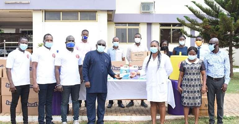 COVID 19: Achimota Retail Centre Donates MedIcal Supplies To Achimota Hospital