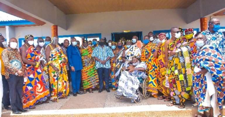 The Vice-President with the Oti Regional House of Chiefs