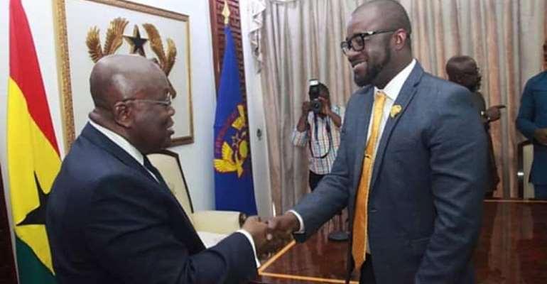 President Akufo Addo and GFA President Kurt Okraku