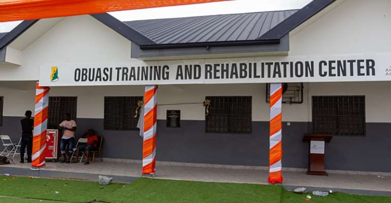 Anglogold Ashanti, Obuasi Municipal Assembly Hand Over A Training And Rehabilitation Center For PWDs In Obuasi